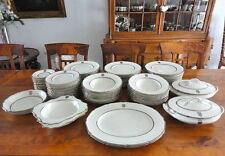 Antique Porcelain of the Counts of Lambsdorff, 80 pieces! Crest, Decor Platinum!
