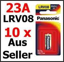 10 Panasonic 23A A23 LRV08 Alkaline Battery 12V A23S Car Alarms remote control