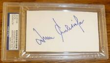 John Schlesinger Signed 3x5 Index Card PSA/DNA Slabbed