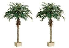 "2 Artificial 70"" Phoenix Palm Tree with Pot Plant Bush Topiary Office Patio Ivy"