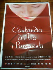 """LOCANDINA FILM """"CANTANDO DIETRO I PARAVENTI"""" UN FILM DI ERMANNO OLMI"""