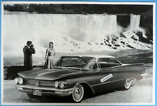 "12 By 18"" Black & White Picture 1960 Buick Invicta 2 Door Hardtop By Water Fall"