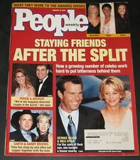 People Magazine January 22, 2001-Staying Friends After They Split