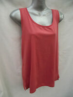 BNWT Ladies Sz 12 Rivers Brand Pretty Apricot Stretch Sleeveless Relaxed Fit Top