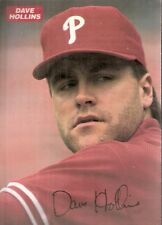 1993 Medford Ford Philadelphia Phillies Card Autographed by Dave Hollins