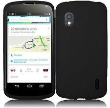 Black Premium Silicone Cover Case for LG Optimus G Nexus Google Nexus 4 E960