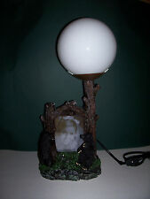 Two Bear Picture Frame Table Lamp NIB Rustic Nature Cabin Dad Fathers Day
