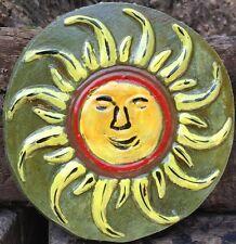 Sunface 8, plaq, stepping stone,  plastic mold, concrete mold, cement, plaster