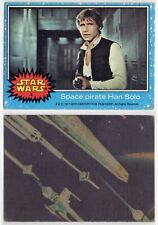 1977 Topps Star Wars #4 SPACE PIRATE HAN SOLO Trading Card ORIGINAL AUTHENTIC