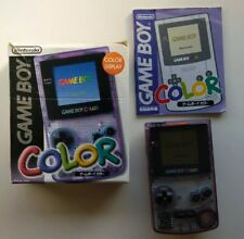 BOXED Nintendo Game Boy Color clear Handheld System Colour GBC   --GENUINE--