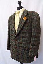 Men's Green PIED DE POULE Harris Tweed Giacca Blazer 44R CC6478