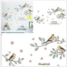 Cartoon Birds Tree Branch Wall Stickers Living Room Bedroom Decor PVC Wall Decal