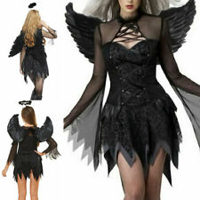Halloween Sexy Cosplay Fallen Dark Angel Vampire Devil Costume Party Dress