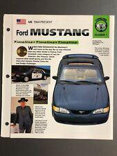 "1964 > Ford Mustang Timeline IMP ""Hot Cars"" Spec Sheet Folder Brochure Awesome"