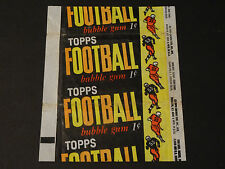 RARE One Cent 1961 Topps Football Wax Pack Trading Card FB Wrapper LQQK