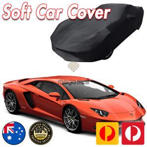 Black Show Car Dust Cover for Lamborghini Aventador Washable Soft Plush