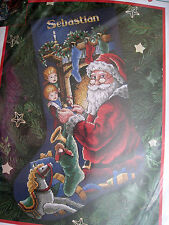 Dimensions Christmas Holiday Counted Cross Stocking KIT,PEEKING AT SANTA,8620,16
