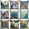 """18"""" Animal Peacock Parrot Linen Pillow Case Home Sofa Decor Square Cushion Cover"""