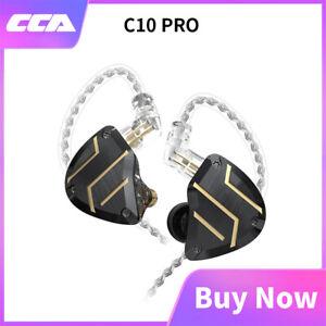 CCA C10 Pro 1DD 4BA Hybrid Drivers 2Pin HIFI Bass Metal In-Ear Earphones Headset
