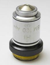 Nikon Apo 100x 1.40 BM Microscope Objective Negative Phase Contrast Short Barrel