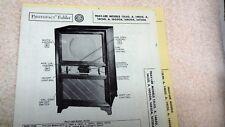 Trav-ler TV Models 12L50-A 14B50-A 14C50-A 16G50A R T Sams Photofacts Folder