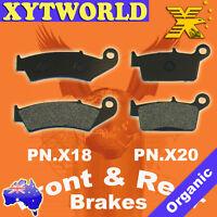 FRONT REAR Brake Pads for HONDA CR 500 1987 1988 1989 1990 1991 1992 1993 1994