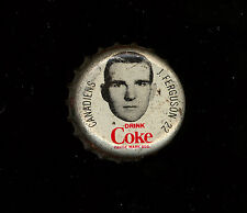 1964 65 COCA-COLA COKE BOTTLE CAP WITH CORK JOHN FERGUSON MONTREAL CANADIENS