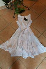 BORIS INDUSTRIES Ballon Kleid 40 42 (2) NEU! weiß schw. Punkte A-Form LAGENLOOK