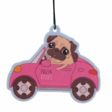 10 x Cute Pug Design - New Car Smell Fragranced Air Freshener