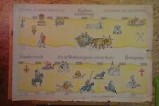 Tableau Mural Geschichtsfries Années 0-1300 92x64cm ~1954 Heritage Vintage Chart