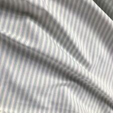 "White Gray Ticking Stripe Cotton Upholstery Fabric - 54"""