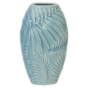 Tropical Leaves Medium Home Ornament Flower Arrangement Table Centrepiece Vase