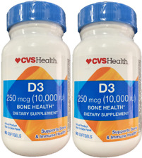 2 PACK of CVS Health vitamin D3 10000 iu 250 Mcg