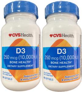 2 PACK of CVS Health vitamin D3 10000 iu 250 Mcg