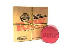 RAW Super Shredder Grinder Rolling Papers Aircraft Grade 2 Part - Aluminium Red