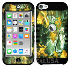 For Apple iPod Touch iTouch 5 | 6 - KoolKase Hybrid Cover Case - Camo Mossy 04