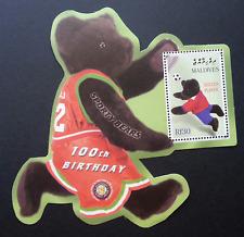 Maldives Teddy Bears 100th Birthday Football 2002 Sport (sheetlet MNH *odd shape