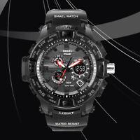 SMAEL Men's Digital Army Dual Time Military Sport Shockproof Quartz Wrist Watch