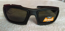 DVX By Wiley X  Axon Matte Black W RX Sunglasses RX' able  55-18-130