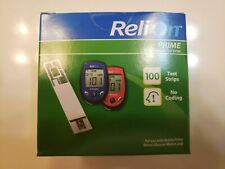 ReliOn Prime Blood Glucose Test Strips 100 Count Exp. 12/21+Sealed and new !