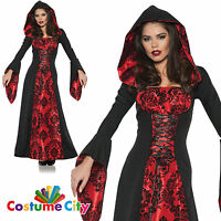 Adults Womens Gothic Red Scarlet Mistress Fancy Dress Party Halloween Costume
