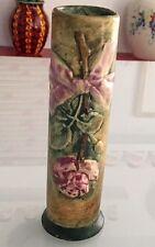 """Vintage Weller Ware Art Pottery Woodcraft Flemish Rose Bud Vase 6 1/8"""" Mint"""