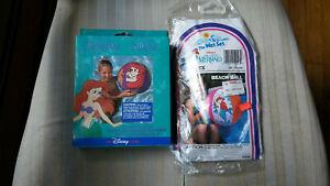 "1991 Intex The Wet Set & Disney Store 20"" Little Mermaid Beach Balls - Lot of 2"