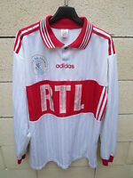VINTAGE Maillot COUPE DE FRANCE porté n°4 blanc ADIDAS RTL match worn shirt XL