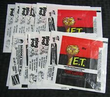 1982 E.T. the Extra-Terrestrial Trading Card Wrapper LOT of 13 Grade 4.0/5.5