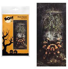 Giant Spider Door Cover Wall Scene Halloween Decoration Poster Web Tarantula