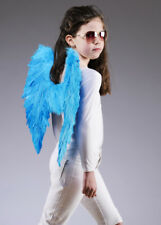 Kids Size Turquoise Blue Feather Angel Wings