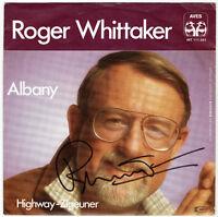 "ROGER WHITTAKER    Albany - 7"" Single 1981 - Coverhülle SIGNIERT!"