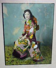 Rare~1930s~Pre-WW2~Japanese American~Fred Jumura~Hand Tinted~Kimono~Salinas~Lady