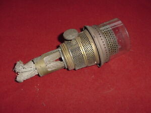 Antique Aladdin Nu-Type Model B Oil Lamp Burner with Wick And Glass
